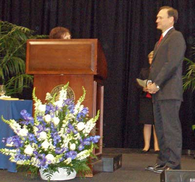 University Heights Mayor Beryl Rothschild presented 2 keys to the city to Justice Samuel Alito