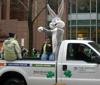 Bugs Bunny was Irish for a day