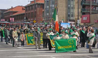 Division 1 begins the The parade