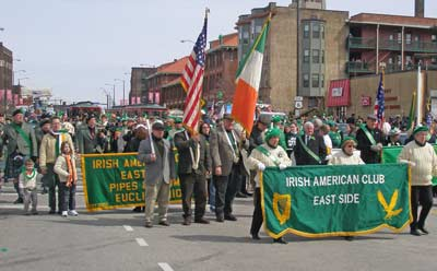 Irish American Club East Side stepping off