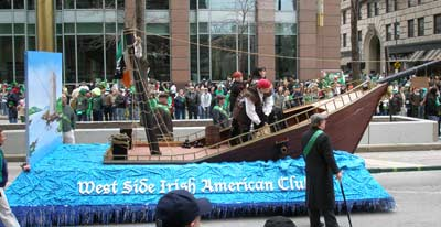 Pirate Queen of Ireland Grace O'Malley float - West Side Irish