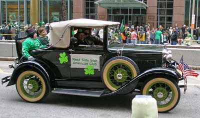 West Side Irish American Club car