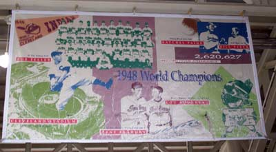 Cleveland Indians 1948 World Championship banner