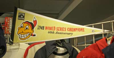 1948 Cleveland Indians World Series Championship pennant