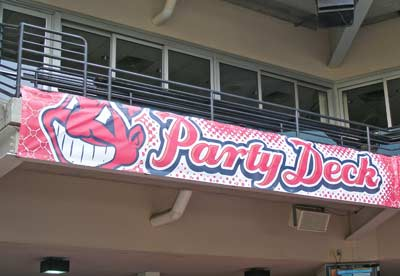 Cleveland Indians Party Deck