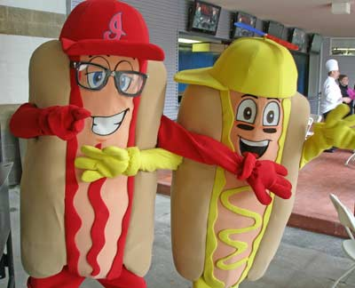 Cleveland Indians Ketchup and Mustard mascots
