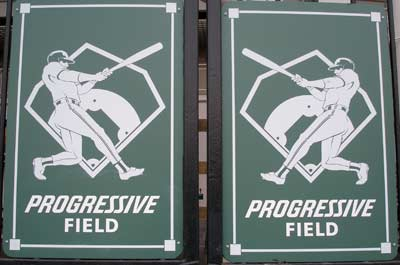 Cleveland Indians Progressive Field Signs