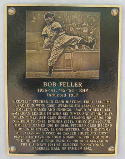 Bob Feller at heritage Park