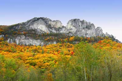 Seneca Rocks in Autumn