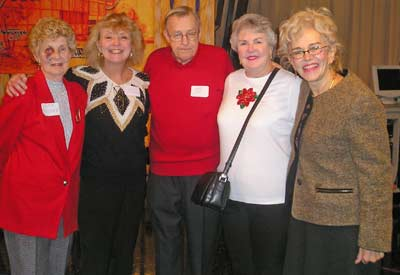 Jean Rosner, Linda Muglick,  Alan and Bobbi Bush and Ruth Sindelar