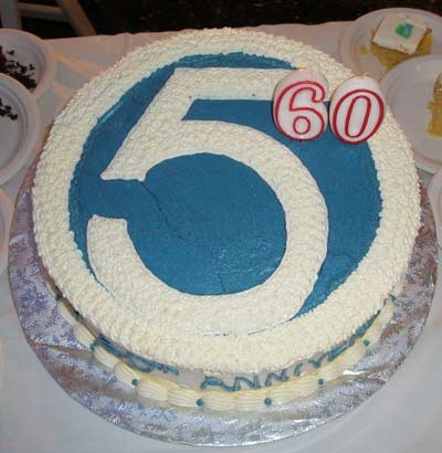 WEWS Cleveland TV Channel 5 60th anniversary cake