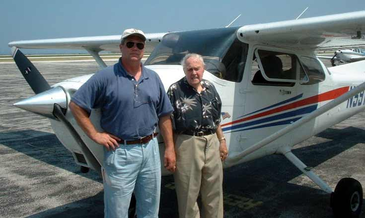 Ed and Tom Mugridge with Cessna