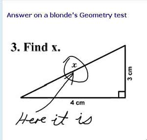 blonde on math test