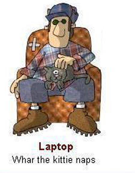 Funny picture of computer for country folk