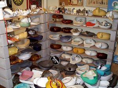 Shelves of bedpans