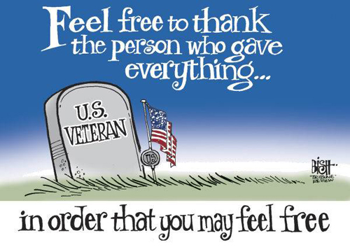 Memorial Day cartoon - remember the fallen heroes