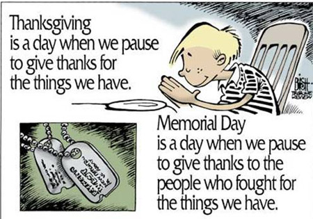 Memorial Day thanks cartoon