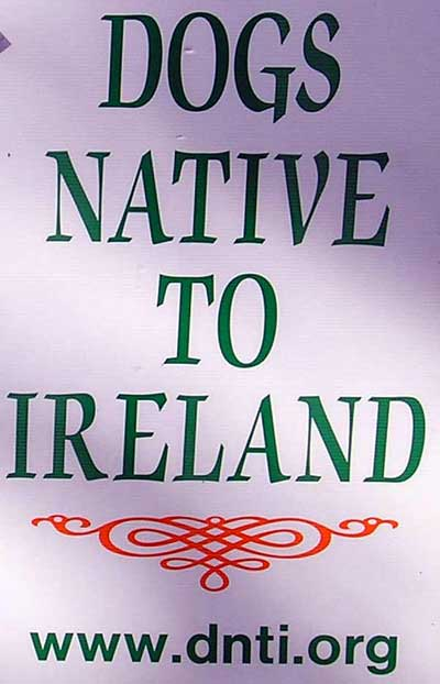 Dogs native to Ireland sign