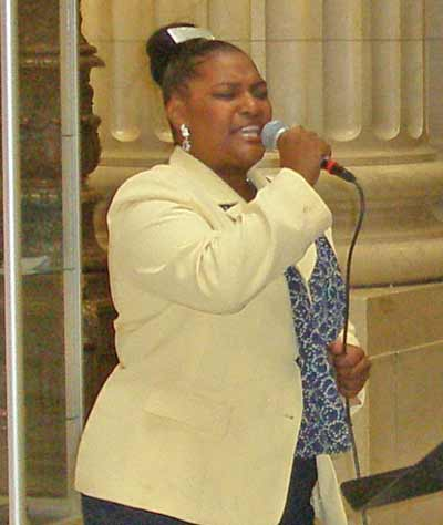 Lucretia Bolden of Mt Sinai Baptist Church