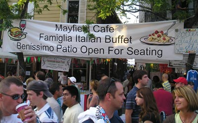 Italian food at Feast of Assumption - Little Italy Cleveland