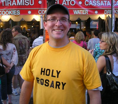 Jim Fischer, volunteering for Holy Rosary