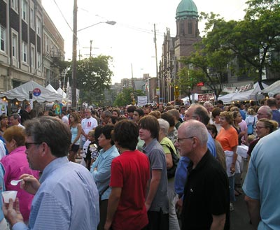 Little Italy Feast of Assumption crowd