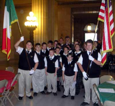 Students from Our Lady of Mt Carmel