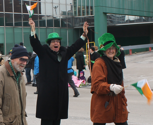 Joe Meissner marching in St Patrick's Day Parade