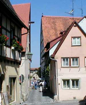 Narrow street in Rothenburg