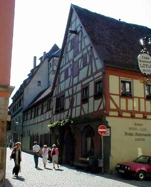 Hotel in old Rothenburg