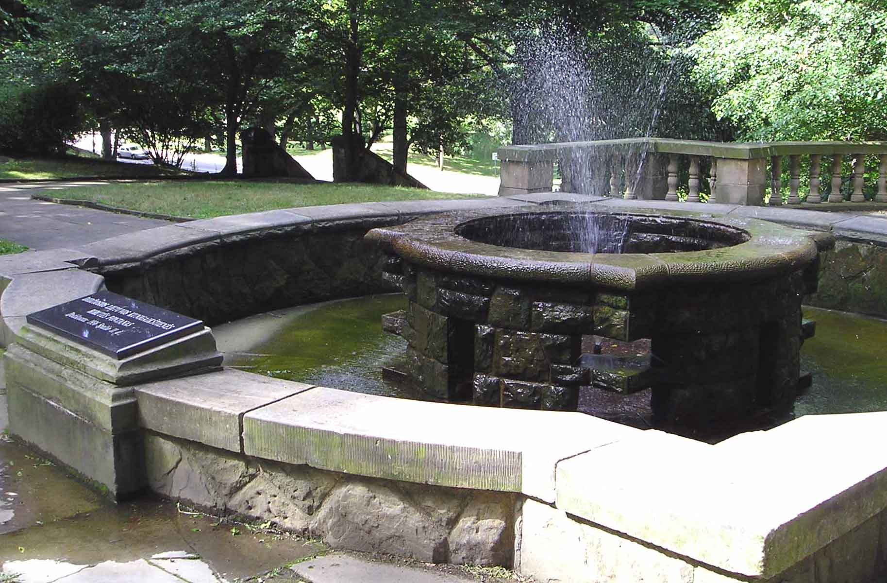 The Fountain of Biruta in the Lithuanian Cultural Garden
