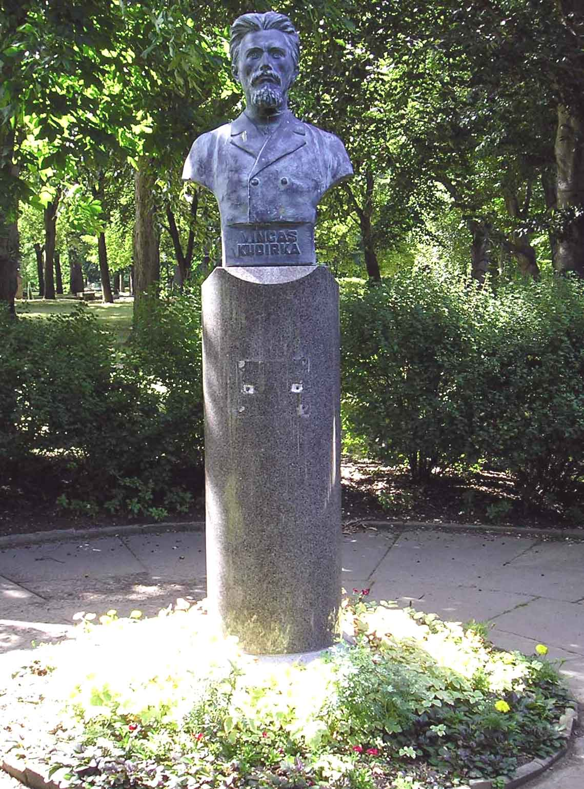 Statue of Lithuanian Poet Vincas Kudirka in the Lithuanian Cultural Garden