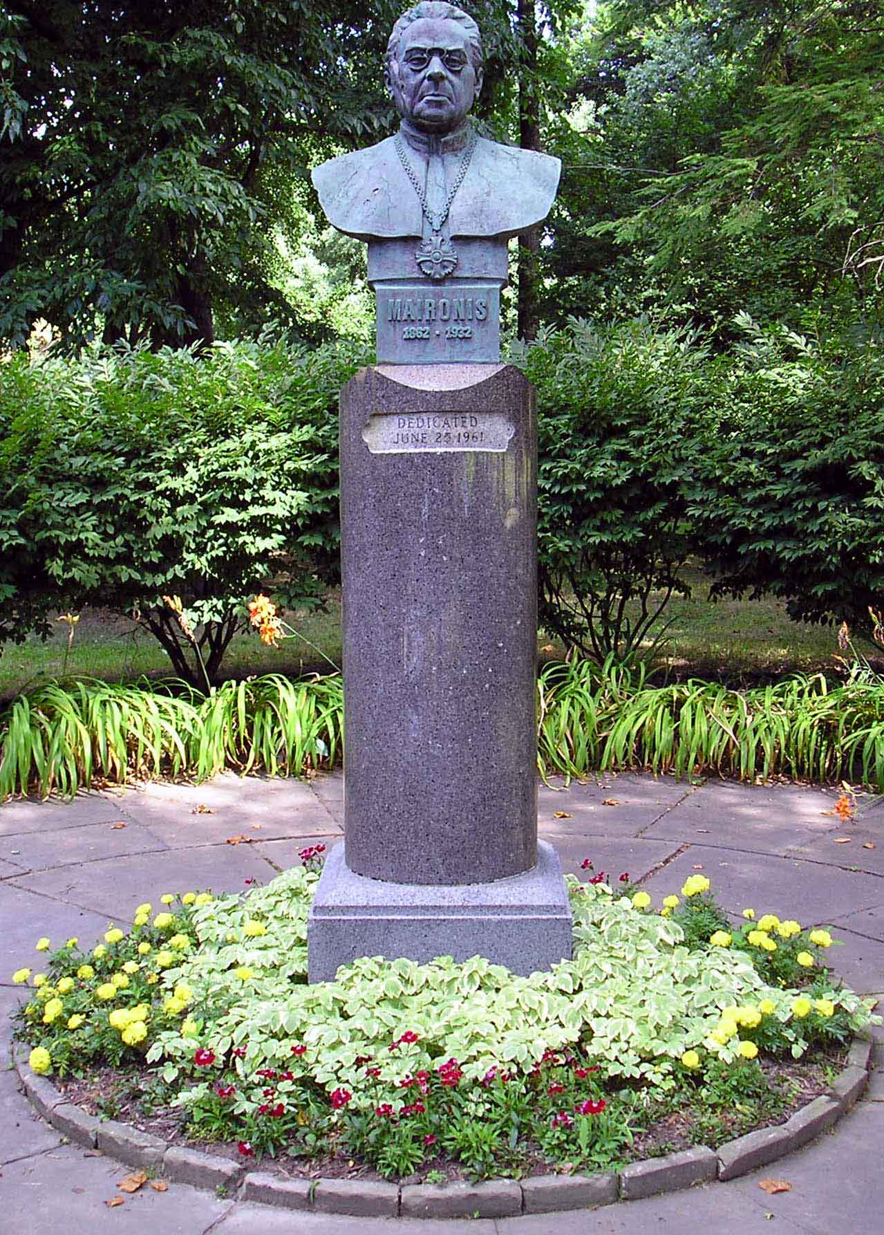 Statue of Lithuanian Poet Maciulis Maironis in the Lithuanian Cultural Garden