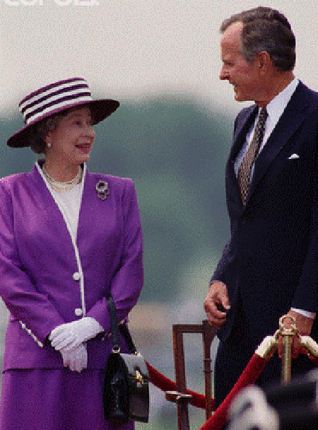 Queen Elizabeth with George Bush - 41