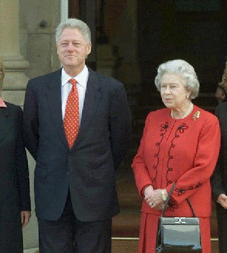 Queen Elizabeth with Bill Clinton