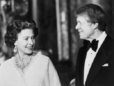 Queen Elizabeth with Jimmy Carter