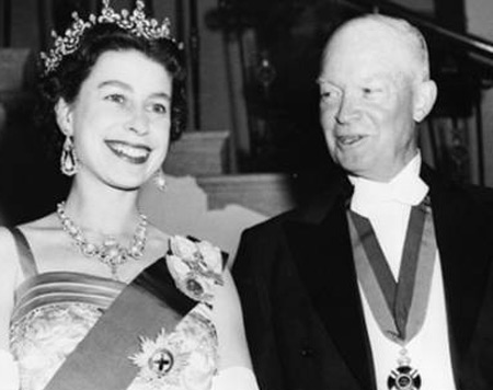 Queen Elizabeth with Dwight Eisenhower