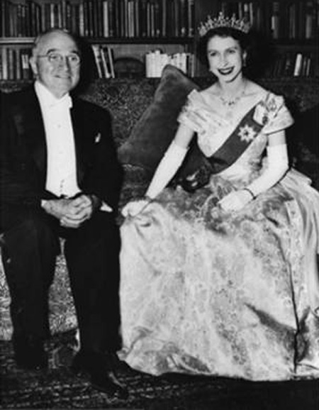 Queen Elizabeth with Harry Truman