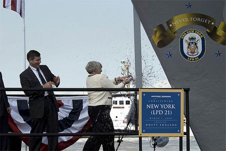 Christening of USS New York on March 1, 2008