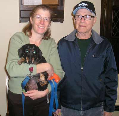 Bridget Assing-Marok and her dad brought dachsund Peanuts