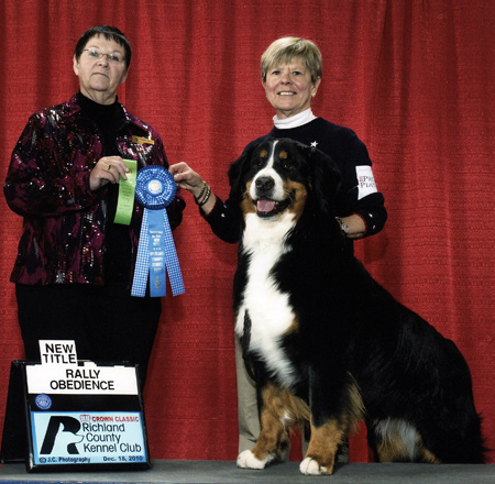 Bernese Mountain Dog Luke and Joan Atkian