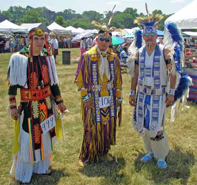 Native American Indians in regalia at Cleveland Powwow