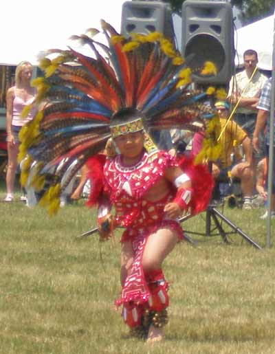 ateck Aztek Indian dancer - Cleveland Powwow