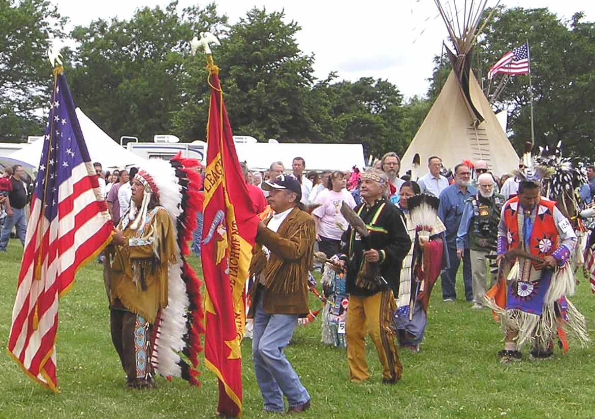 Cleveland American Indian powwow grand entry