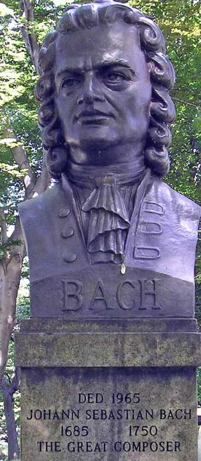 Statue of Bach in Cleveland German Cultural Gardens