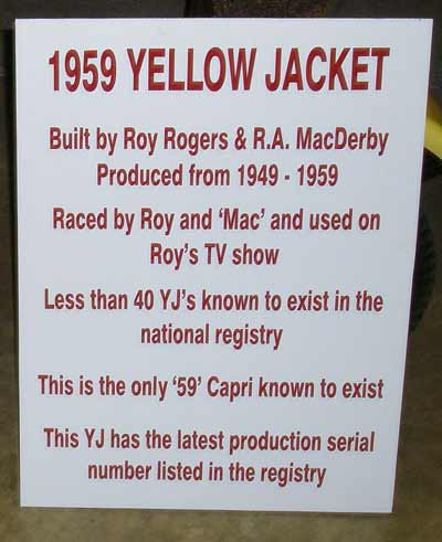 Roy Rogers 1959 Yellow Jacket Boat