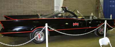Side view of the Batmobile