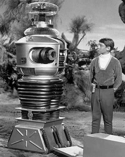 Will Robinson (actor Billy Mumy) and the Robot from Lost in Space