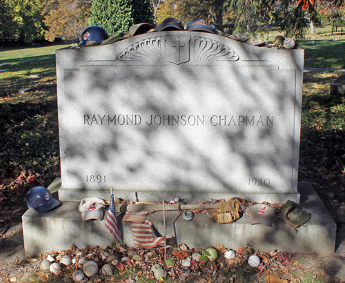 Ray Chapman grave at Lakeview Cemetery
