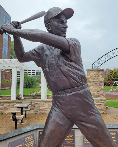 Rocky Colavito statue in Little Italy in Cleveland
